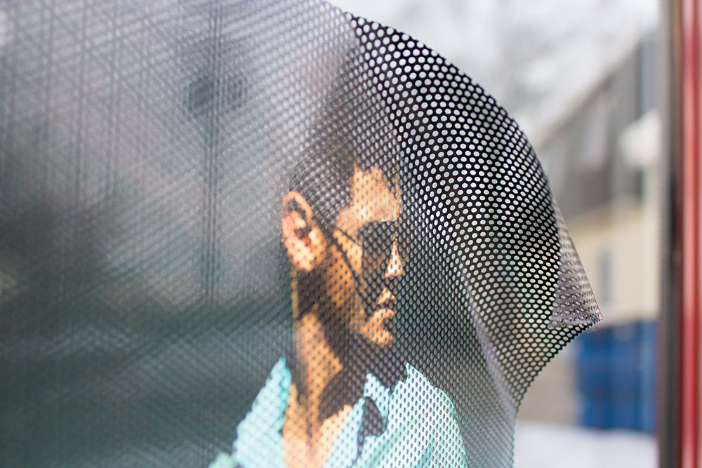 Perforated Mesh Vinyl With Adhesive Back For Glass - Vinyl stickers for glass doors