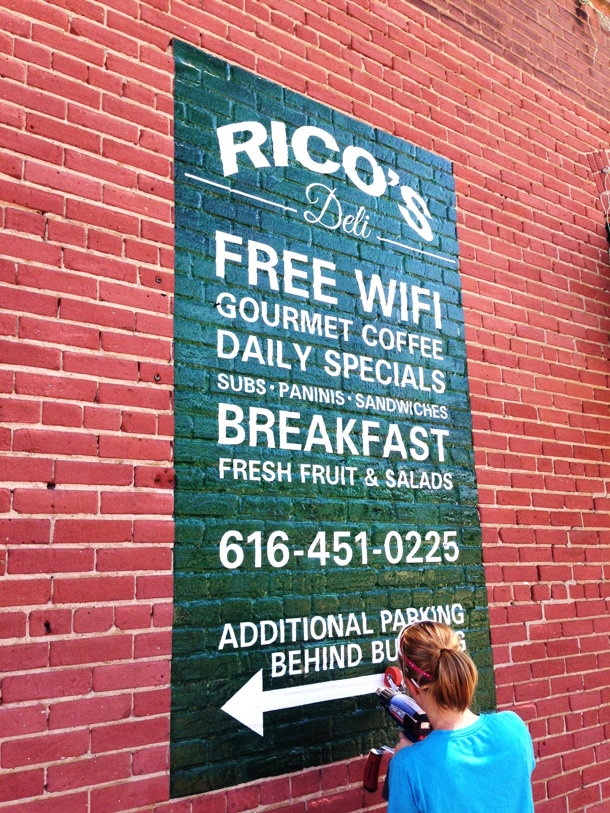 Brick Wrap Signage Printing For Brick Walls