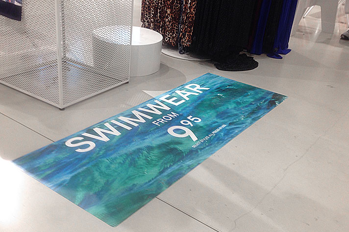 Printed Floor Graphic for Retail Store