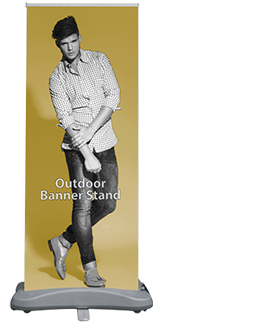 Outdoor Double-Sided 31 Banner Stand