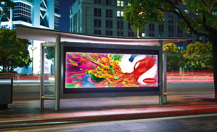 Outdoor Duratran Transparency Laminated on Plexiglass