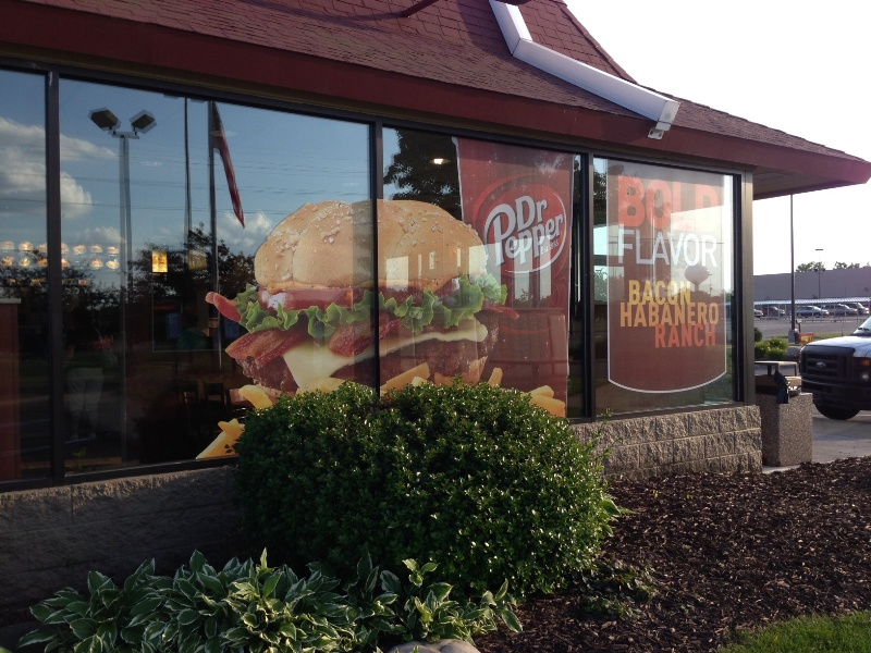 Mcdonald S Using See Through Perforated Vinyl Window Graphics