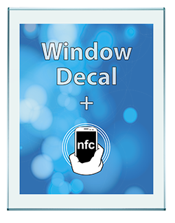 NFC Adhesive Window Decal