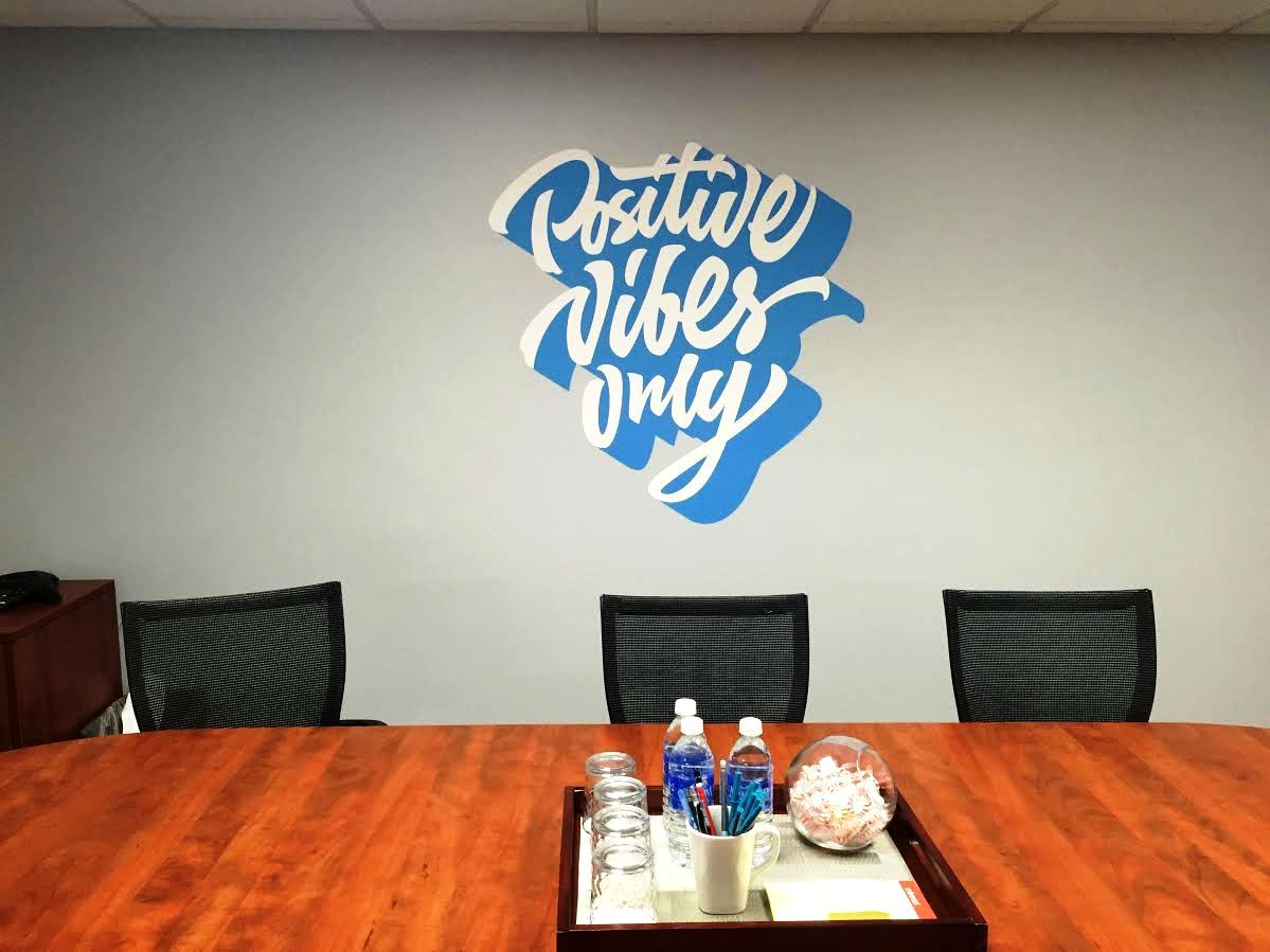 Contour cut printed wall wrap for conference room 40 visuals for Room wraps