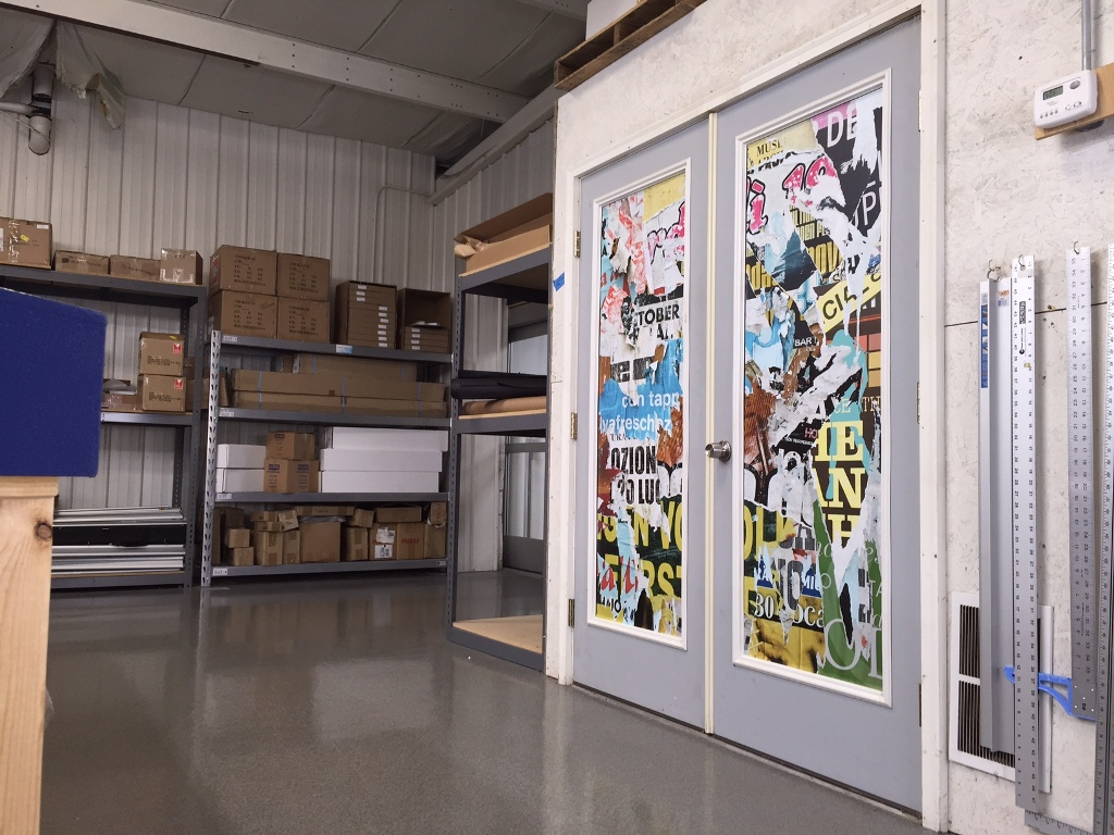 Vinyl On Glass : Printed adhesive back vinyl for interior glass visuals