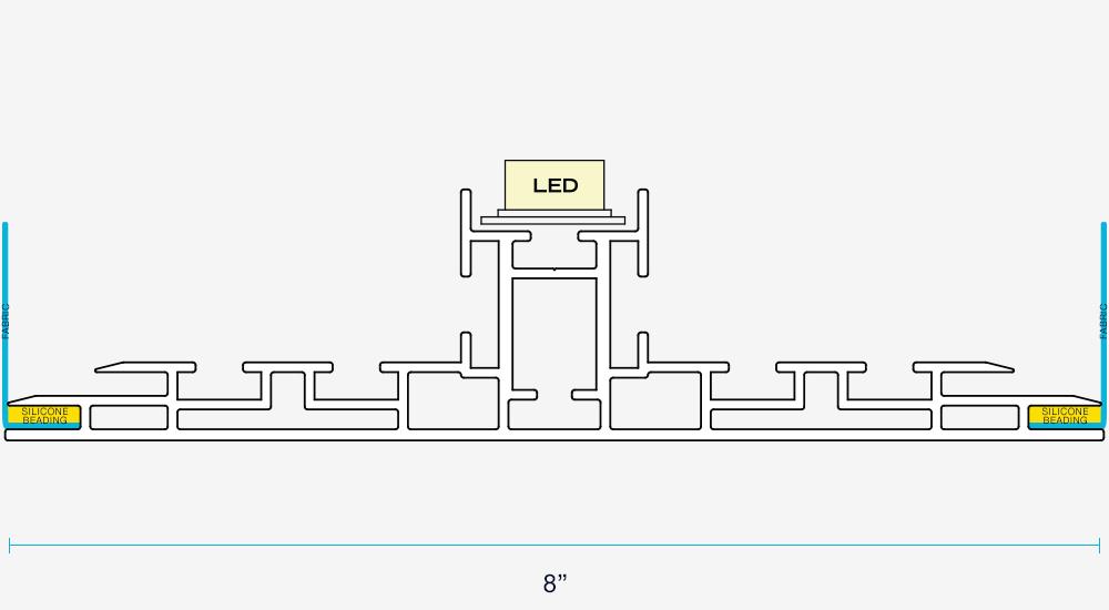 SEG Double Sided Light Box Frame Spec frameless seg light boxes for backlit fabric 40 visuals light box diagram at soozxer.org