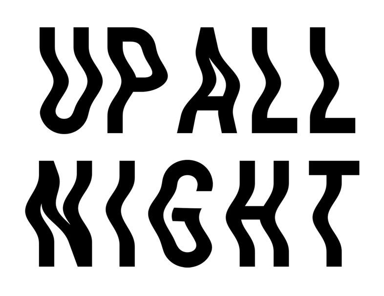 Printed Modern Design Up All Night 40 Visuals