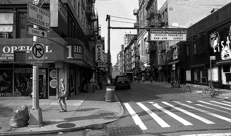 City Street View Black And White