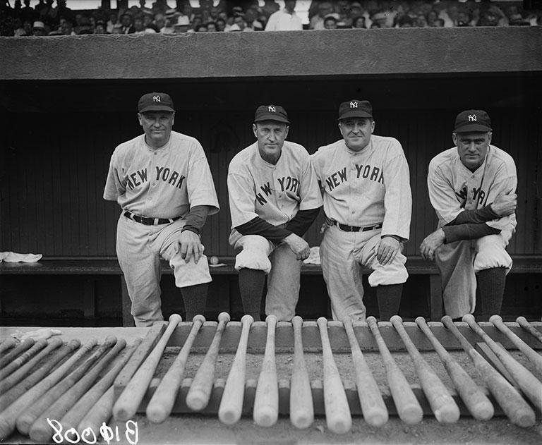 Printed Vintage Photograph Of New York Yankees Coaching