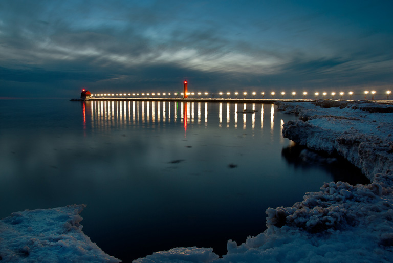 Printed Photography Grand Haven Pier In Winter 40visuals