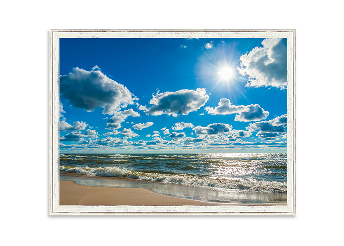 grand haven beach day printed with st marks frame
