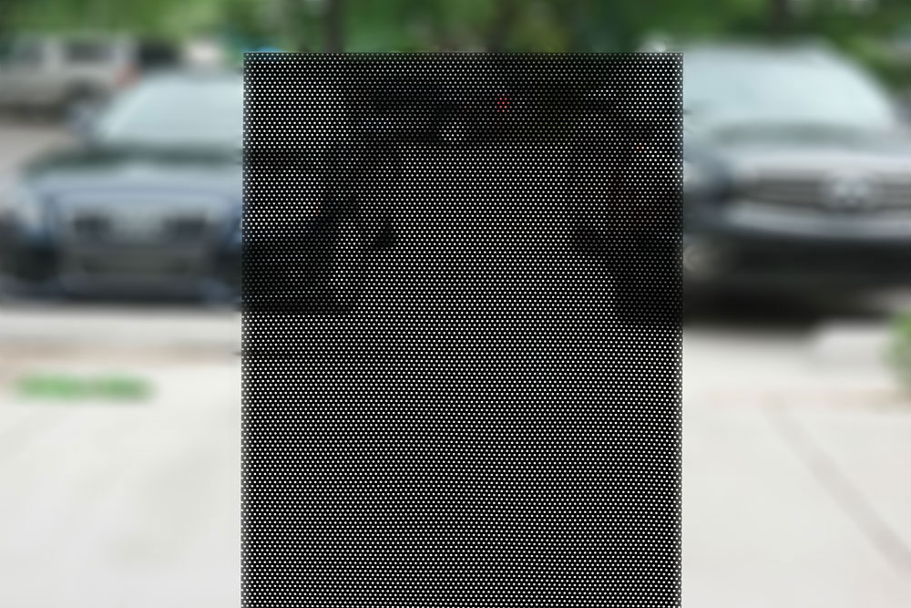 Second Surface Perforated Vinyl For Inside Windows