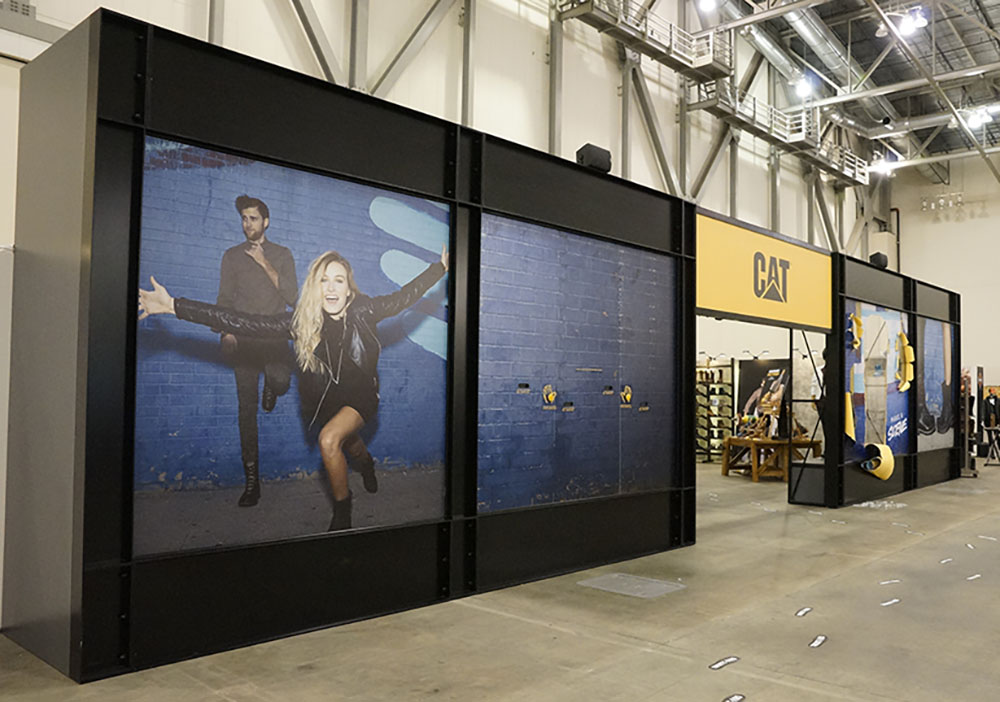 Tradeshow Wall Display CAT Grand Rapids Michigan