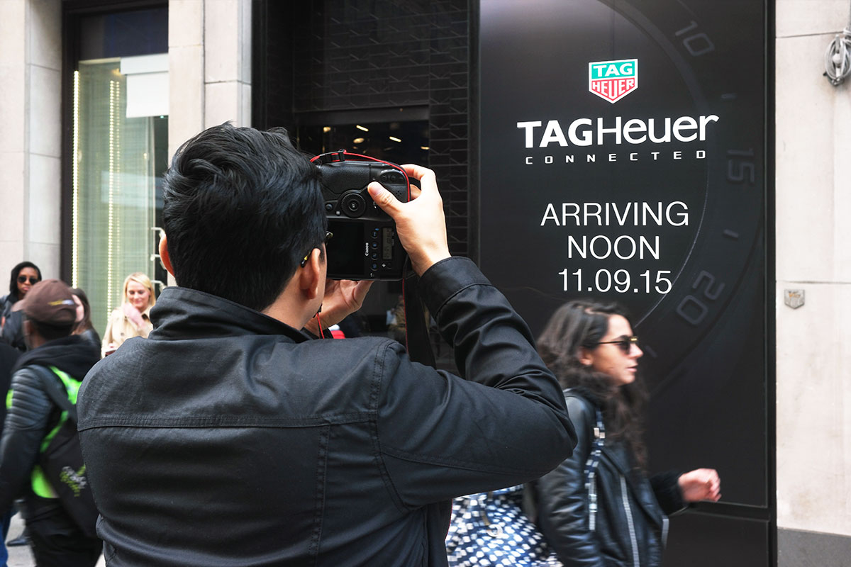 TAG Heuer Printed Signage Storefront Smartwatch Lauch Event