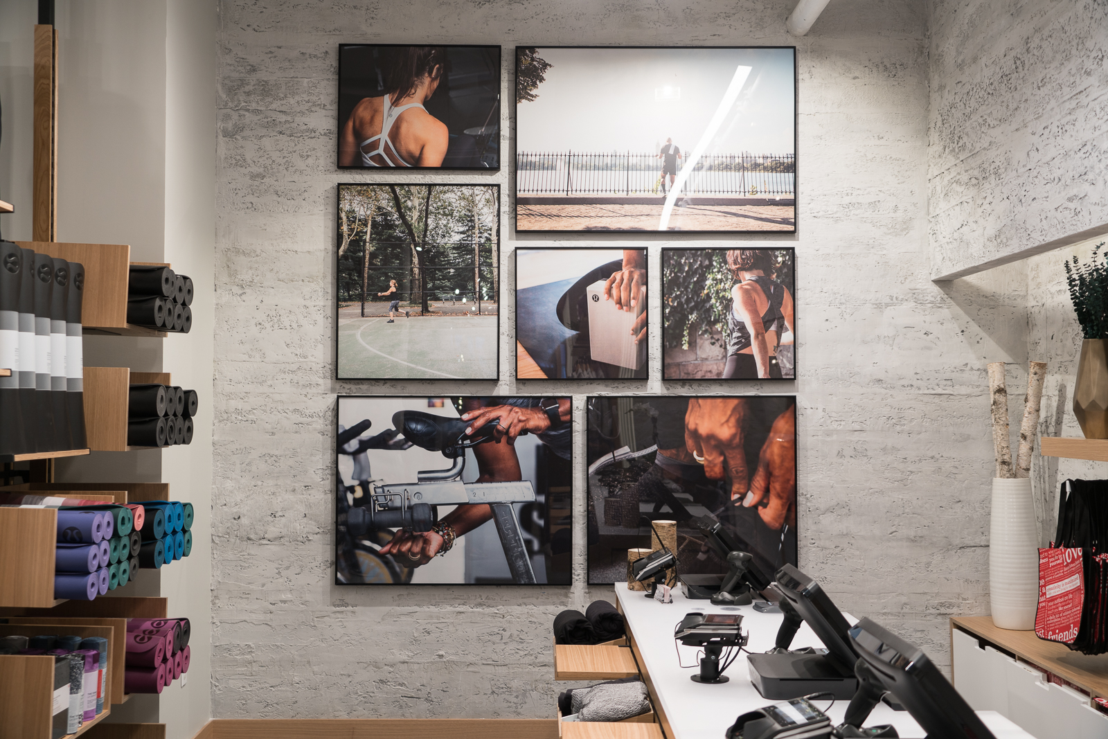 Framed Retail signage at lululemon