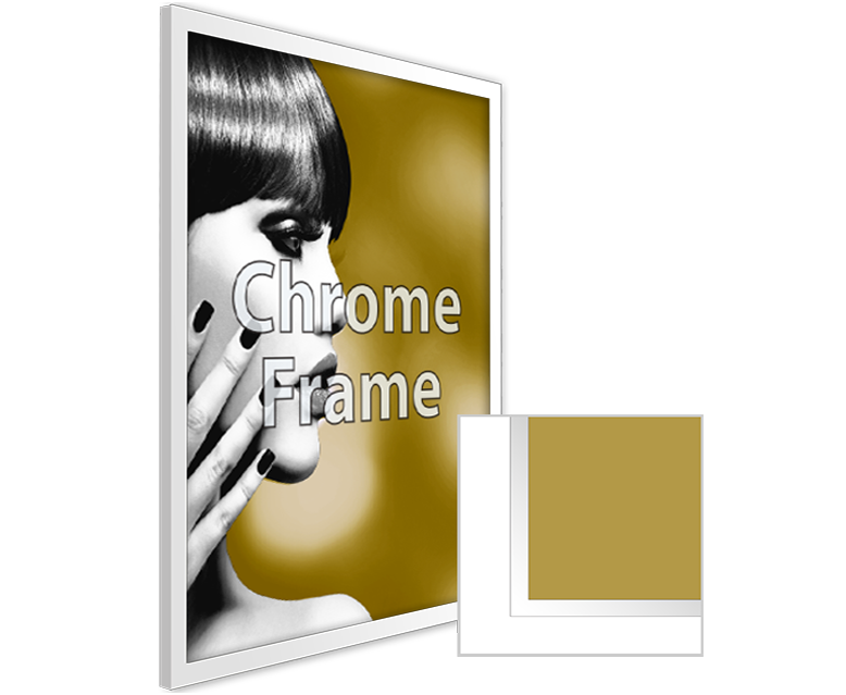 Framed Substrate Print Chrome