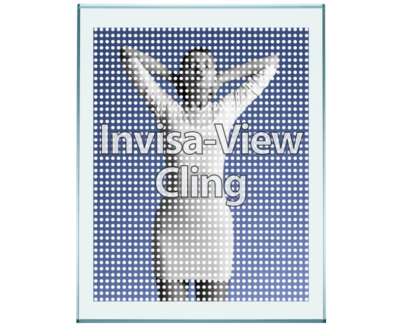 Perforated Static Clings For Windows And Glass