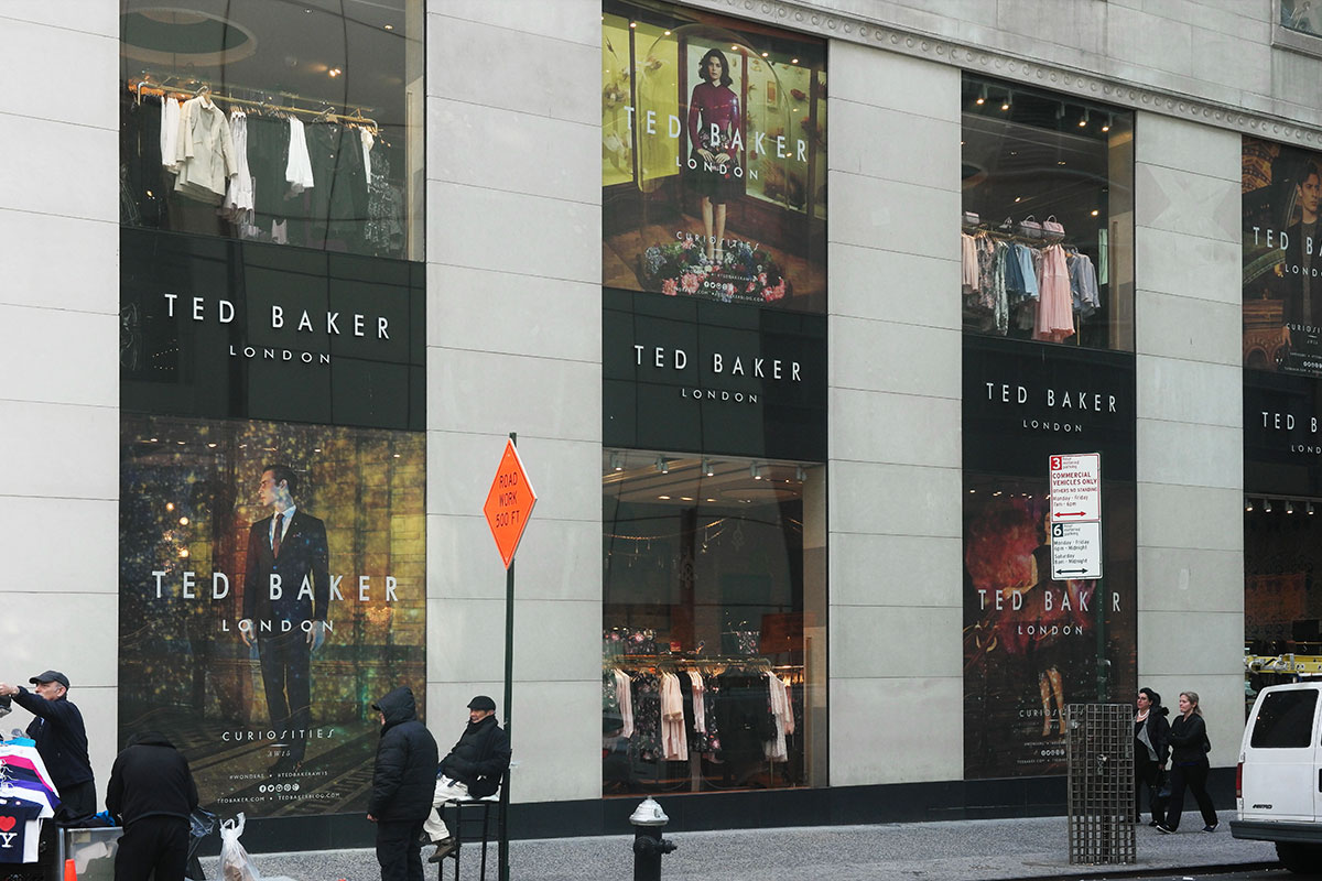 See Through Signage On Glass Windows At Ted Baker 40 Visuals