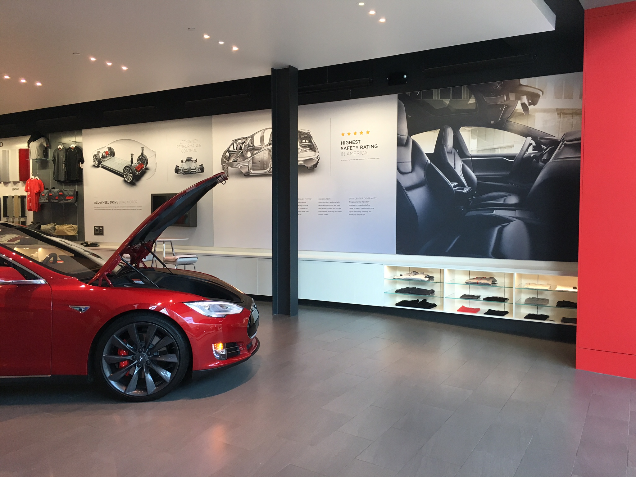 Seg Tension Fabric Signage At Tesla Car Dealership 40