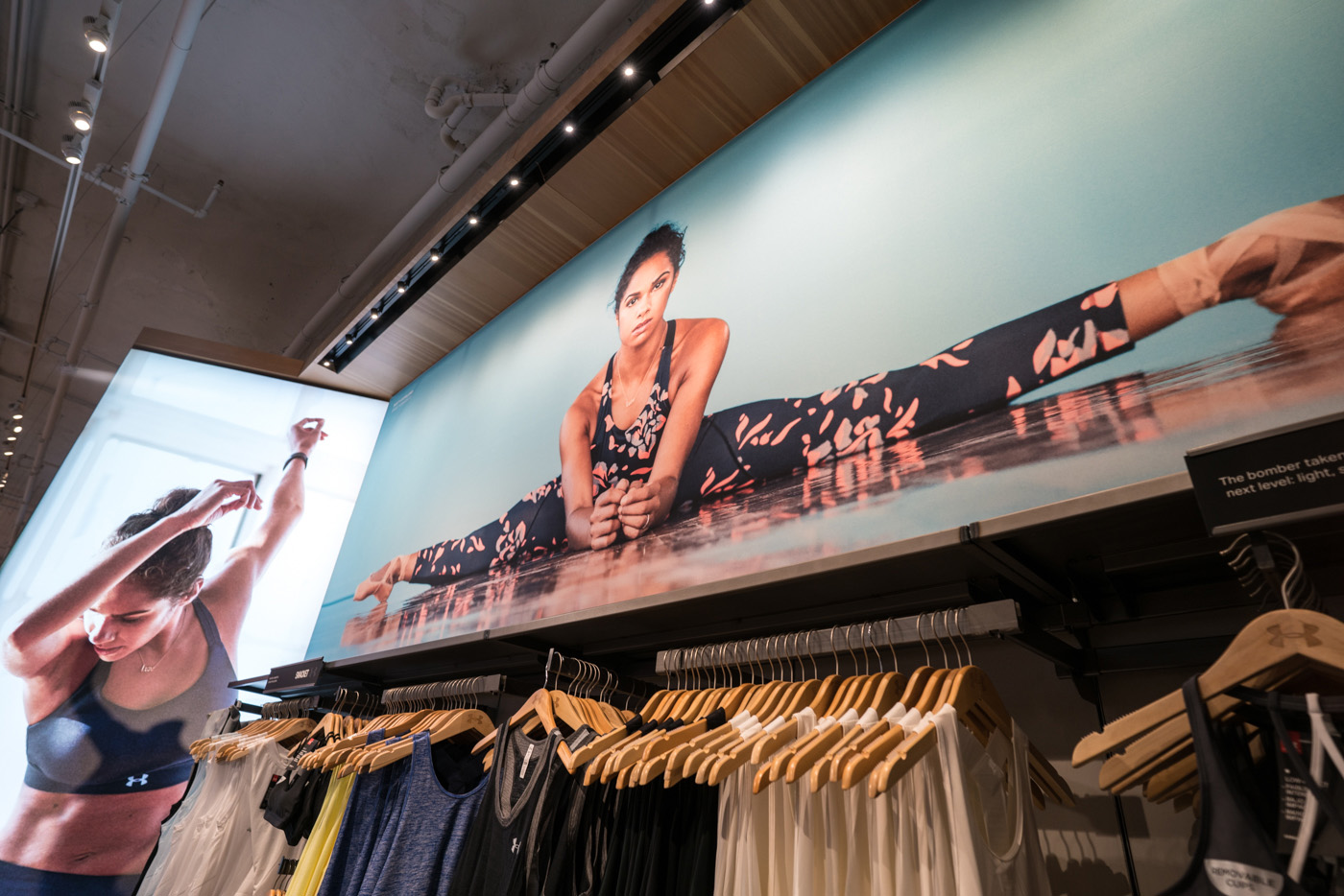 Seg Fabric Signs Make Fitness Look Easy At Under Armour Stores